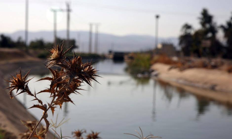This Oct. 23, 2017 photo shows a stretch of the King Abdullah Canal, the largest irrigation system near the town of Northern Shouneh, Jordan. Recent studies say the kingdom, a Western ally and refugee host nation with a growing population, is being hit particularly hard by climate change, getting hotter and drier than previously anticipated. Photo: Omar Akour, Associated Press