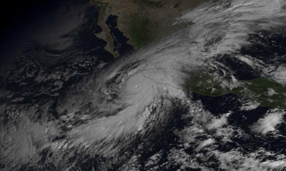 GOES-East satellite image of Hurricane Patricia at 10:45 am EDT October 23, 2015. Image credit: NOAA Viz Lab.