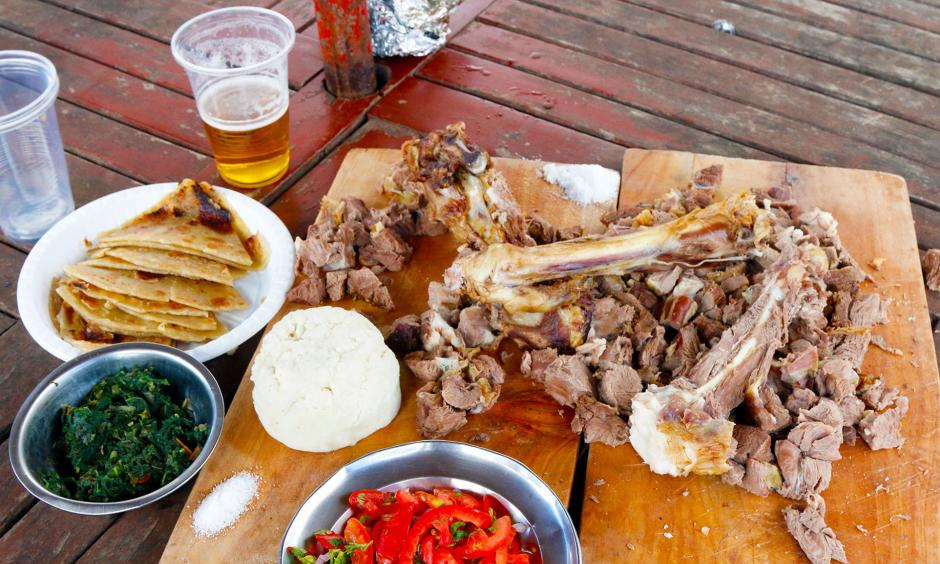Nyama choma, a type of grilled goat meat in Kenya. Photo: Tim McDonnell