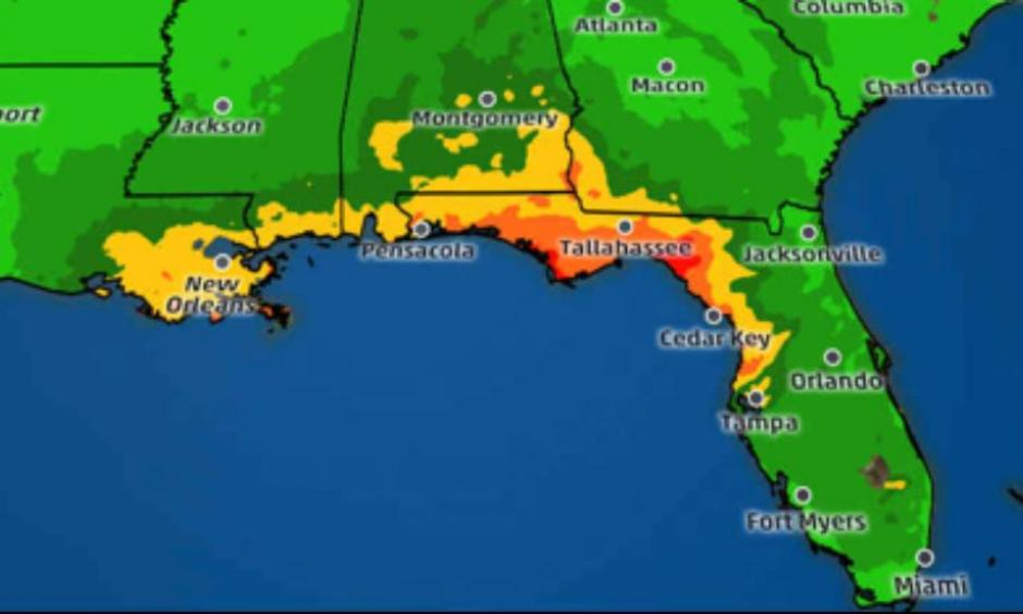 Rainfall outlook through Friday. Image: The Weather Channel