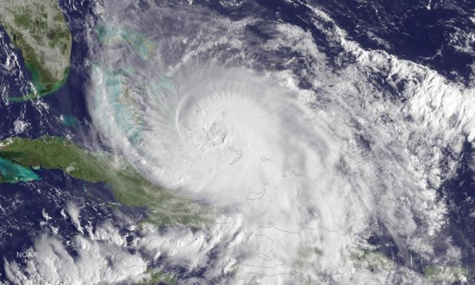 Hurricane Joaquin from October 2015 over the Bahamas. Image: NOAA GOES