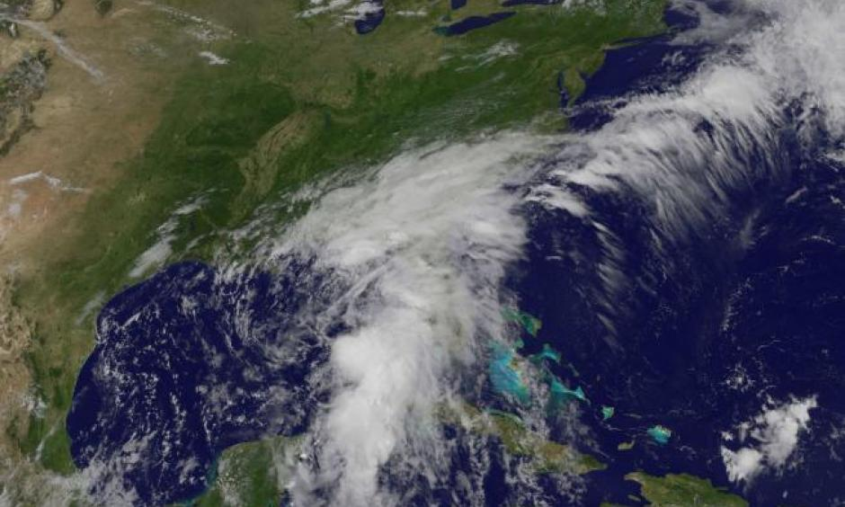 A NASA's Geostationary Operational Environmental Satellite (GOES) image shows the Tropical Storm Colin over Florida and the U.S. South-East coast in this satellite image released by on June 6, 2016. Image: GOES Project Science/NASA/Handout via Reuters