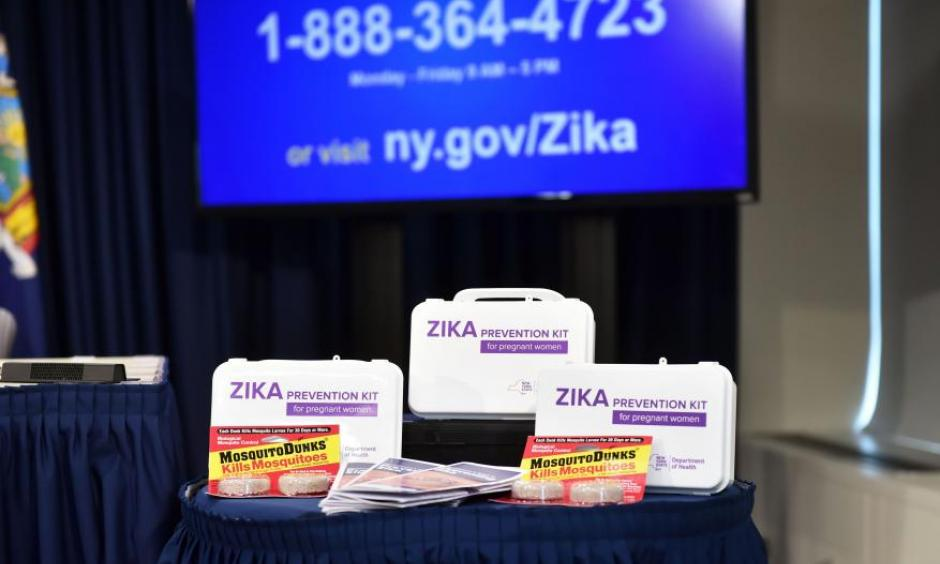 The New York State Department of Health unveiled a Zika Prevention Kit for pregnant women during the rollout of a Zika Information hotline and website, in New York, NY, U.S., in this file photo dated August 2, 2016. Photo: Kevin P. Coughlin / Office of the Governor/Handout via Reuters
