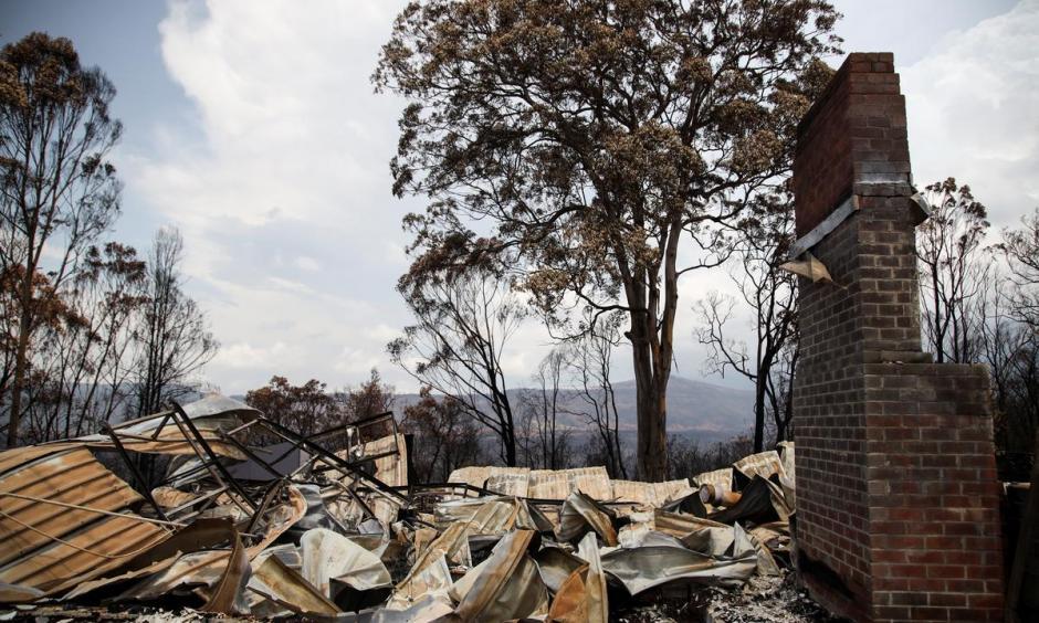 damage from bushfires