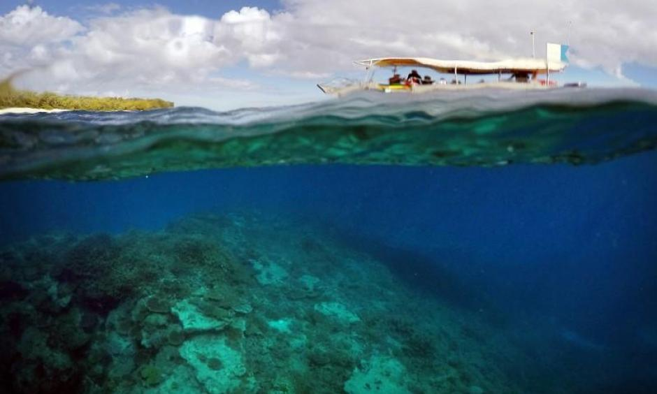 A tourist boat floats above an area called the 'Coral Gardens' located off Lady Elliot Island and north-east from the town of Bundaberg in Queensland, Australia, in this June 11, 2015 file photo. Photo: David Gray, Reuters