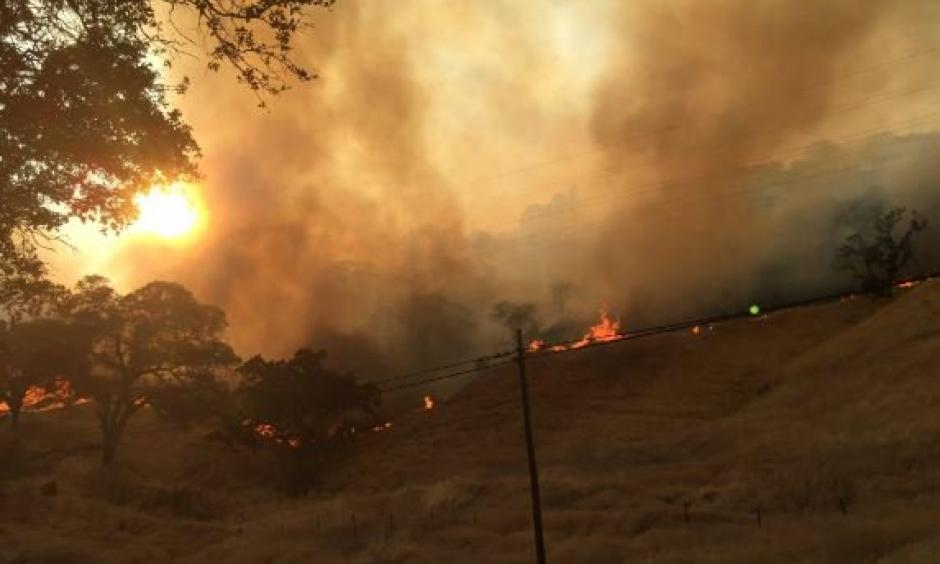 The Cold Fire in Yolo County started shortly after 4:30 p.m. on Tuesday, August 2, 2016, officials said. Photo: CalFire