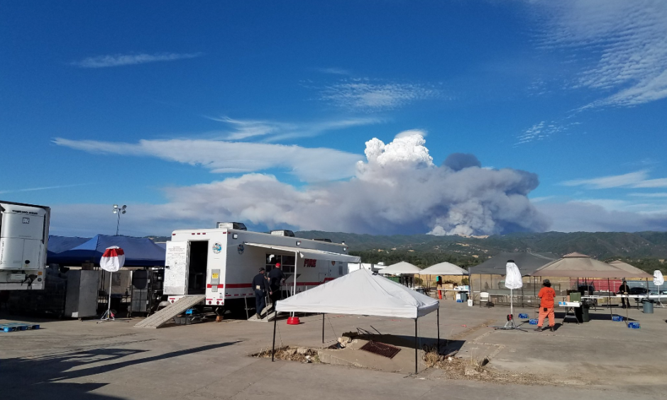 The National Weather Service shared a photo of pyrocumulus and lenticular clouds over the Mendocino Complex Fire. Credit: NWS Sacramento
