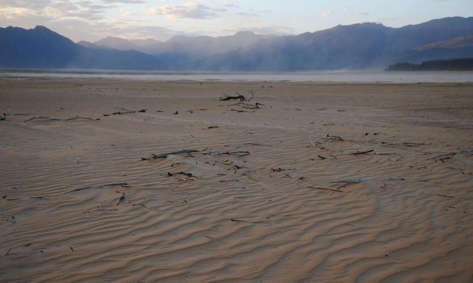 The dried up Theewaterskloof dam near Cape Town in June. The dam supplies most of the city 's potable water. Photo: Mike Hutchings, Reuters