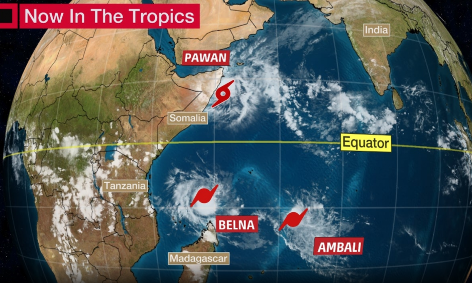 Current Tropical Systems in the Indian Ocean