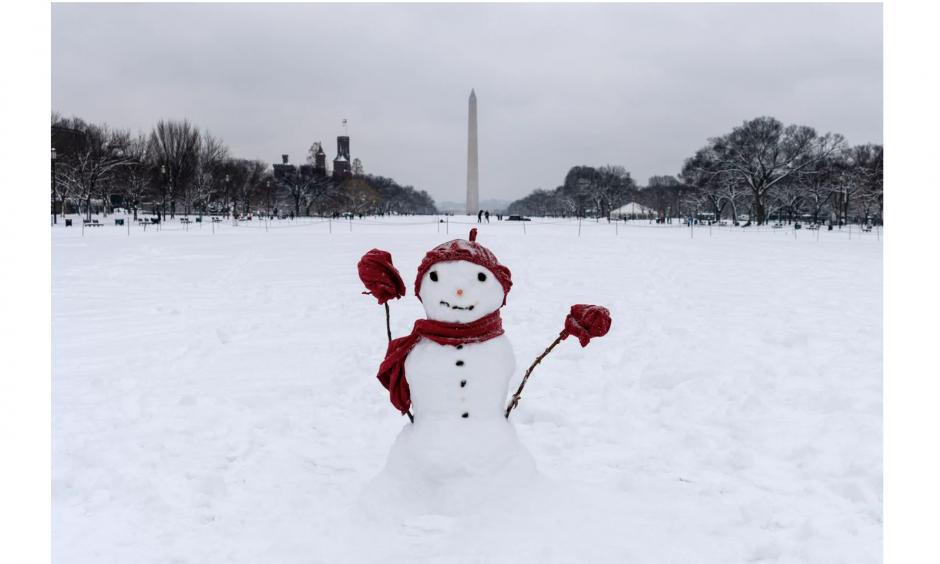 climate change is decreasing snow amounts in Washington DC