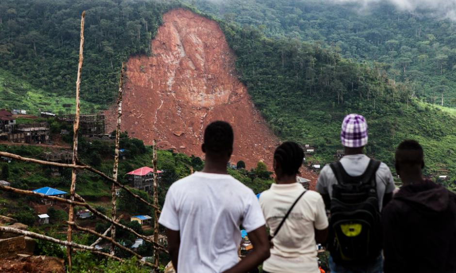 Mudslides and flooding caused by heavy rain killed scores of people in Freetown, the capital of Sierra Leone. Photo: Jane Hahn, New York Times