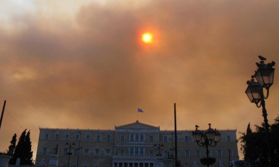 Fires burning across Greece (pictured), Portugal, Italy and Croatia have been exacerbated by extraordinary heat. Photo: Юкатан, Commons