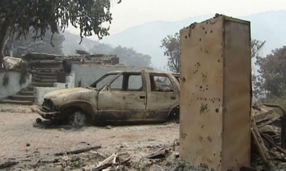 Soberanes fire damage. Photo: CBS