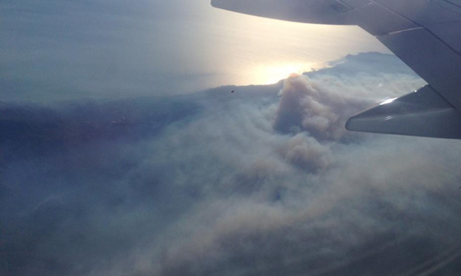 The Soberanes Fire from the air on August 30. Photo: Jack Morse, SFist