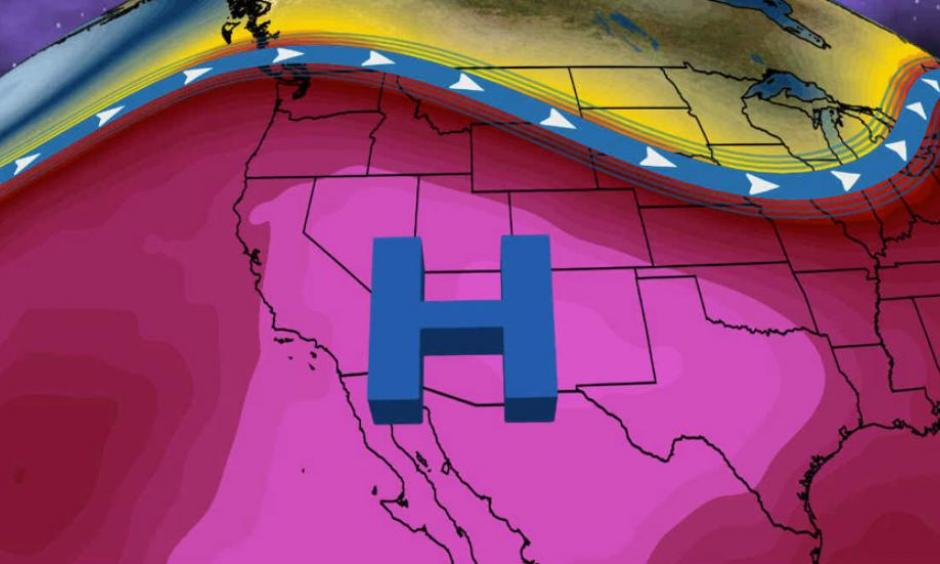 A dome of high pressure will build over the Southwest by this weekend resulting in extreme heat. Image: The Weather Channel