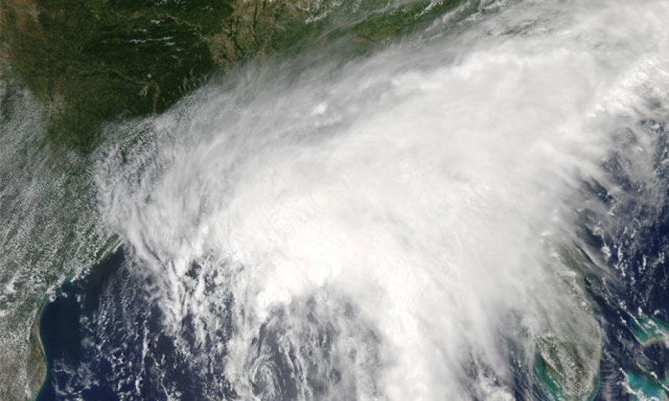 The Moderate Resolution Imaging Spectroradiometer (MODIS) on NASA's Aqua satellite captured this natural-color image of the storm at 12:48 p.m. Central Time (17:48 Universal Time) on June 20, 2017. Image: Jeff Schmaltz, LANCE/EOSDIS Rapid Response, NASA