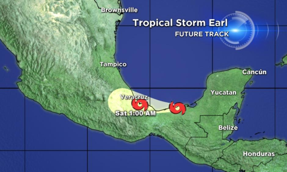 Tropical Storm Earl. Image: CBS4