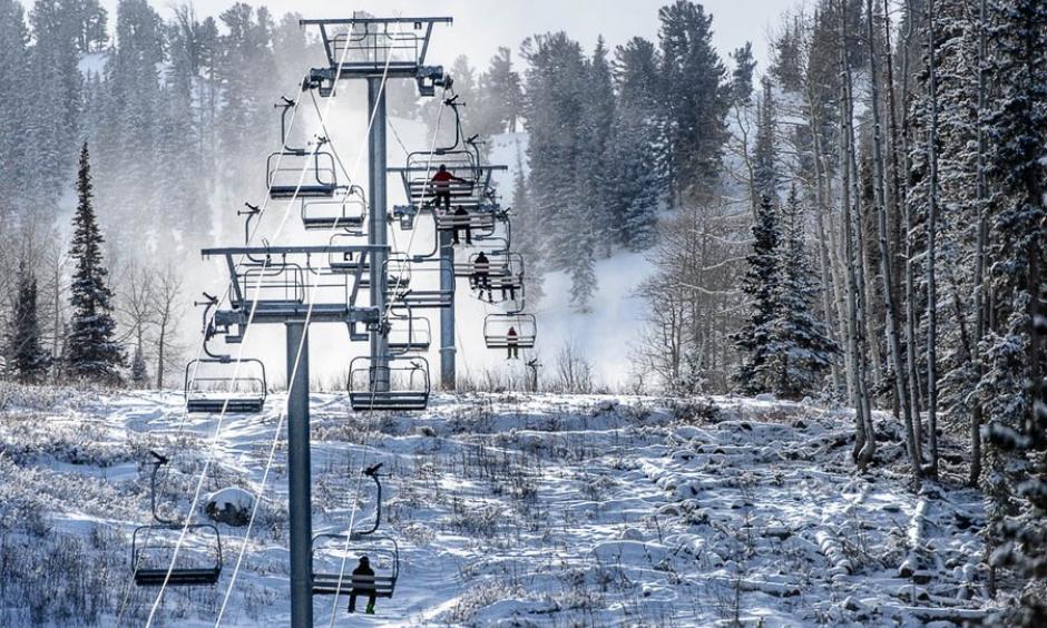 Skiers at Solitude Mountain Resort, Thursday December 21, 2017. Photo: Trent Nelson, The Salt Lake Tribune