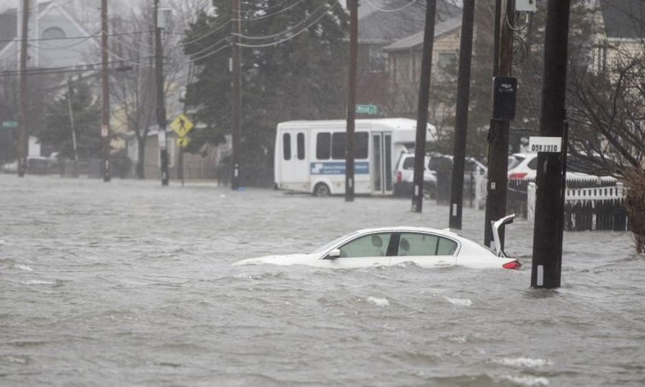 A nor'easter is pounding the East Coast with heavy rain, strong winds and some snow. The storm is causing flooding along coastal areas of the Eastern Seaboard. Photo: Claritza Jimenez, The Washington Post