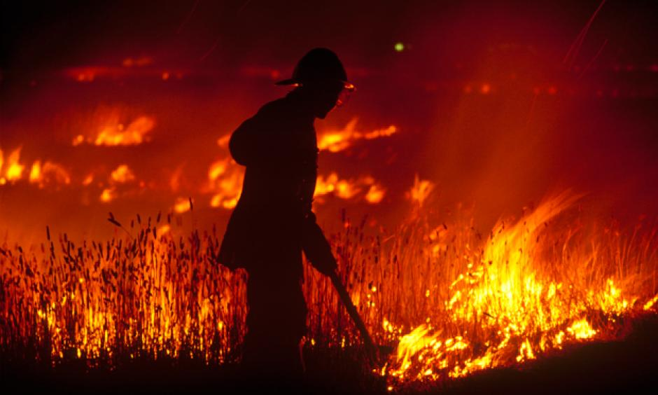 In Australia, severe bushfires often occur after record high temperatures, low relative humidity and strong winds. Photo: Getty