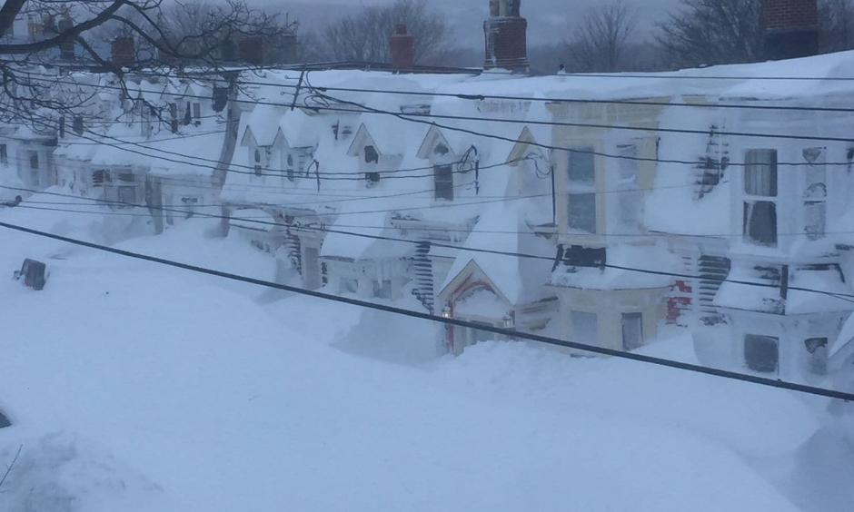 An explosive blizzard hit Newfoundland, Canada bringing heavy snow and hurricane-force winds. Credit: The Washington Post