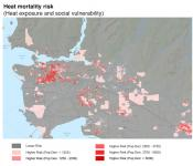"Lower Mainland neighbourhoods that become ""urban heat islands"" thanks to fewer trees and more pavement can also see more deadly heat waves when combined with unemployment or older populations, according to a new study. Image: Environmental Health Perspectives Journal"