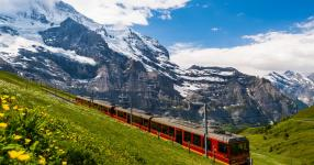 Riding on Switzerland's Jungfrau Railway is a popular tourist activity. One stop on the trip is threatened by an unstable glacier. Scientists have installed radar systems to monitor the threat. Photo: Getty Images