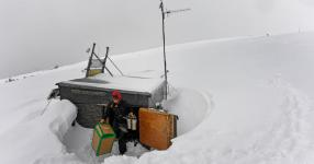 In March, Jennifer Morse, a climate technician, unloaded air sampling equipment into the small wooden shed used to collect data at the Niwot Ridge research site of the National Oceanic and Atmospheric Administration near Nederland, Colo. Photo: Helen H. Richardson, The Denver Post, via Getty Images