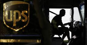 A United Parcel Service driver starts his truck. Credit: David Goldman, AP