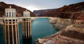 Lake Mead, the reservoir formed by the Hoover Dam, is at its lowest levels since the 1960s. Photo: John Locher, Associated Press