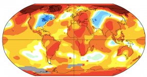 lobal temperature anamolies in November 2019. Credit: NASA