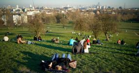 Yes, this is London in February. (Do not get used to it.) Photo: Christopher Furlong, Getty Images