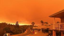 Towns were evacuated and hundreds of residents told to flee on Nov. 8, as a record number of emergency-level bushfires raged across two Australian states. Credit: Reuters