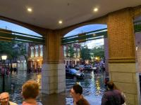 Flooding two hours before high tide in Old Town Alexandria on Saturday evening. Credit: Melanie Mayhew