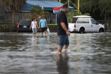 Last year's November king tide in North Miami. Photo: Joe Raedle, Getty Images