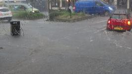 Strong storms led to flooding in parts of London on Tuesday, June 7. Photo: Manhattan Research Inc