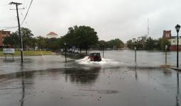 Nuisance street flooding in Norfolk, Virginia on October 9, 2013. Photo: Tal Ezer, Old Dominion University
