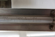 A photograph of the official Furnace Creek, Death Valley maximum recording thermometer at time of observation on Monday morning July 1, 2013 (which was for the maximum temperature measured on June 30). The photo shows a maximum of 129.2°F was reached, tying it with the 129.2°F reading at Mitribah, Kuwait, on July 21, 2016, for the highest reliably measured temperature on Earth, according to wunderground's weather historian Christopher C. Burt. Photo: Death Valley National Park and NWS-Las Vegas.