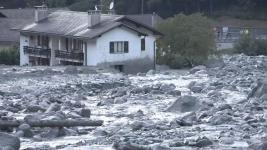 Rocks and debris cascaded down the mountain to the edges of Bondo village. Photo: BBC via Reuters