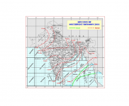 A map illustrating the dates of the normal onset of the monsoon in India (red-dashed lines) and where the actual advance lines have been so far this season (green solid lines). Image: Indian Meteorological Department
