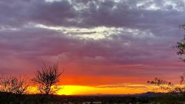 Arizona sunsets heating up with hot summer days. Photo: Joann Zimmerman