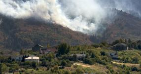 The Bald Mountain Fire burns in the hills above Woodland Hills on Tuesday, Sept. 18, 2018. Photo: Rick Egan, Salt Lake Tribune