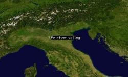 Satellite view of Po river valley. Image: NASA Goddard Space Flight Center