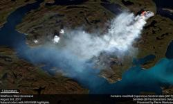 The Sentinel-2 satellite captured a wildfire burning in western Greenland. Image: Pierre Markuse, flickr