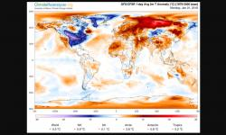 The frigid cold across much of the continental United States appears to be American Exceptionalism. Image: University of Maine, Climate Change Institute