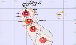 Tropical Cyclone Donna upgraded to a category five storm, bringing winds up to 300kph. Photo: Fiji Meteorological Service
