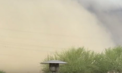 An intense dust storm accompanied by heavy rainfall, strong winds and lightning swept through Phoenix, Arizona on Thursday, November 3, 2016. Photo: The Watchers