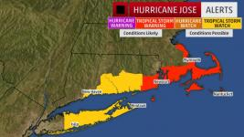 A watch means tropical storm conditions are possible within 48 hours. A warning means those conditions are expected within 36 hours. Image: The Weather Channel