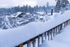 Snow at Big Bear Mountain Resort in Big Bear Lake, Calif. Credit: Big Bear Mountain Resort/AP