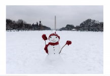 climate change is decreasing snow amounts in Washington DC